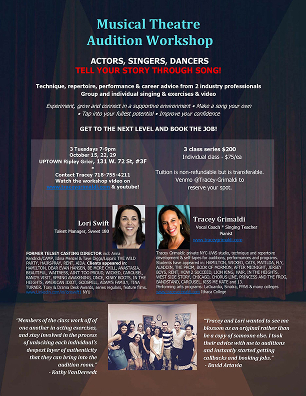 NYC Musical Theater Group Audition Workshop
