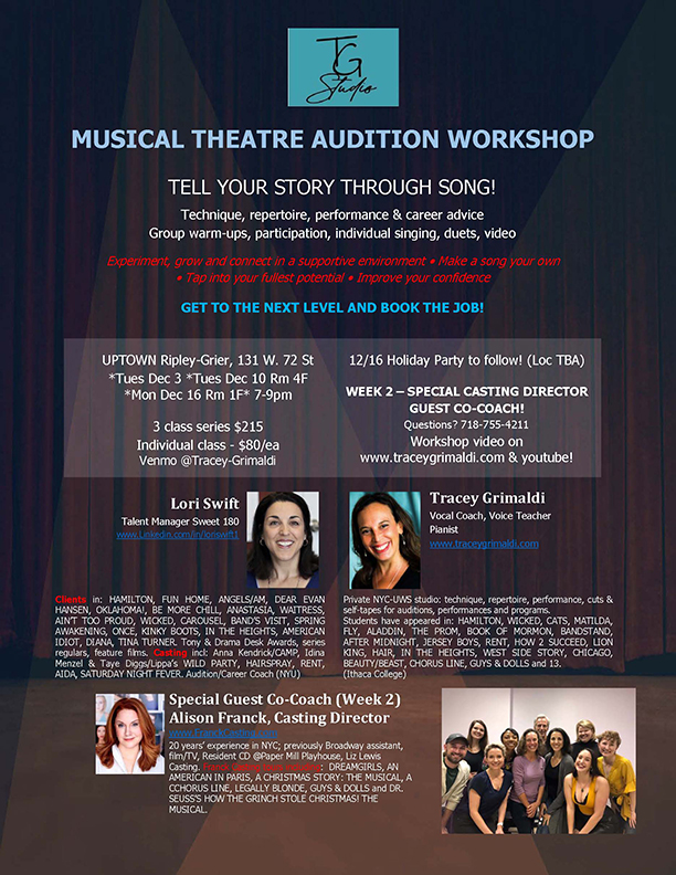 December NYC Musical Theatre Audition Workshop